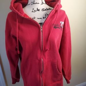 Quicksilver red zip up hoodie